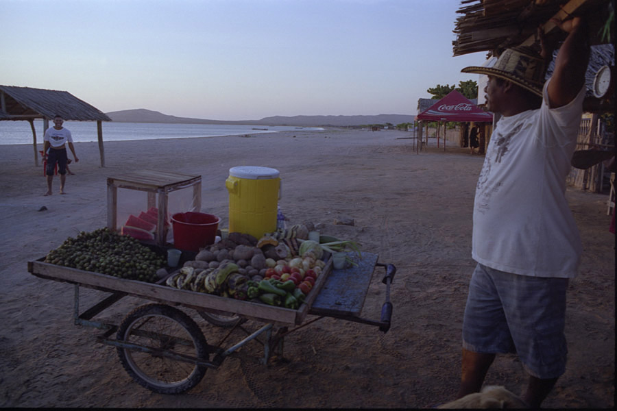 Cabo de la Vela, Colombia 2009: Maríano, owner of the only fruit stand in this La Guajira desert town.